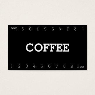 Cartão de perfuração dobro simples do café da cartão de visitas