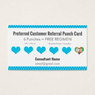 Cartão de perfurador da referência - azul com