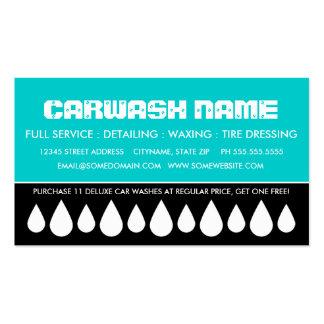 cartão de perfurador do lavagem de carros cartão de visita