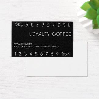 Cartão De Visitas Cartão de perfurador dobro do café da lealdade