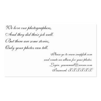 Cartão de Photosharing Cartão De Visita