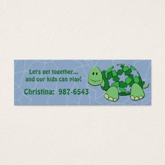 Cartão de Playdate da tartaruga da estrela