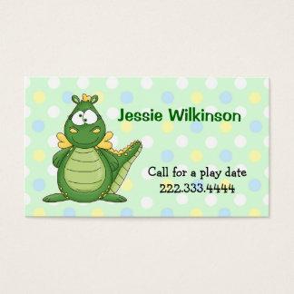 Cartão de Playdate do dragão das bolinhas & dos