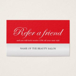 Cartão de prata da referência do falso vermelho