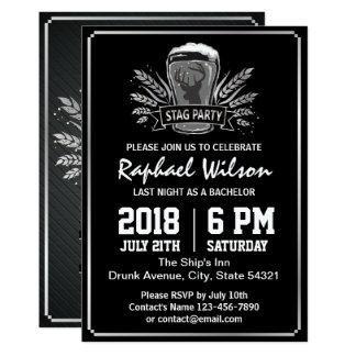 Cartão de prata retro do despedida de solteiro da convite 12.7 x 17.78cm