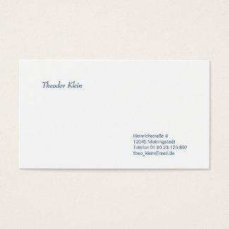 Cartão de presentação clássico