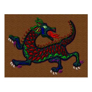 Cartão de respiração do dragão do fogo cartão postal