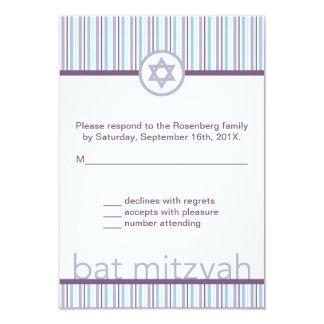 Cartão de resposta claro e brilhante de Mitzvah do Convite 8.89 X 12.7cm