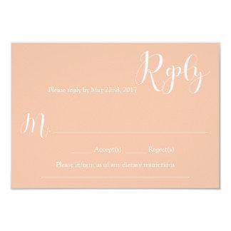 Cartão de resposta coral do casamento convite 8.89 x 12.7cm