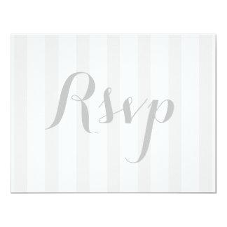 Cartão de resposta da resposta do casamento convite 10.79 x 13.97cm