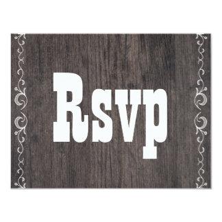 Cartão de resposta de madeira da resposta do convite 10.79 x 13.97cm