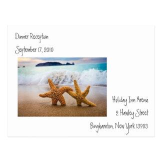 Cartão de resposta do casamento cartão postal