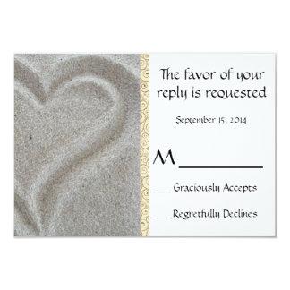 Cartão de resposta do casamento de praia convite 8.89 x 12.7cm