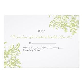 Cartão de resposta elegante do casamento com convite 8.89 x 12.7cm