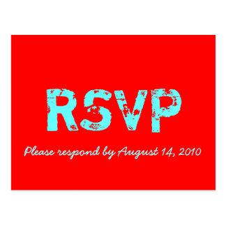 Cartão de RSVP retro Cartão Postal