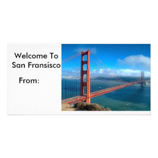Cartão de San Francisco Cartão Com Foto