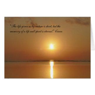 Cartão de simpatia - a memória é eterno