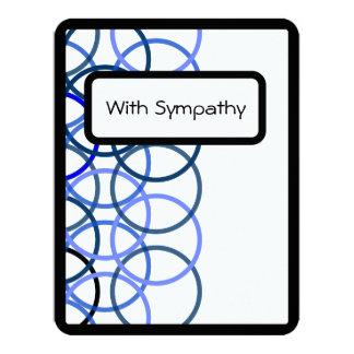 Cartão de simpatia - azul convite 10.79 x 13.97cm