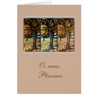 Cartão de simpatia/condolencias portugueses: