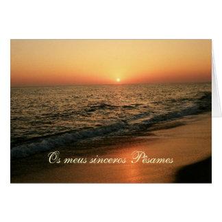 Cartão de simpatia/condolencias portugueses: Por d