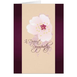 Cartão de simpatia da flor