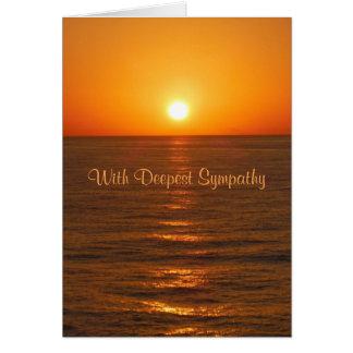 Cartão de simpatia do por do sol do oceano