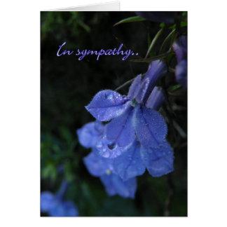 Cartão de simpatia floral azul