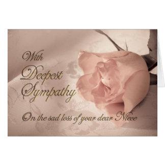 Cartão de simpatia na morte da sobrinha