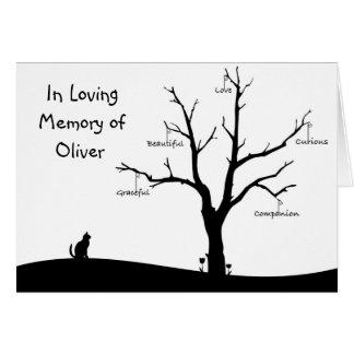 Cartão de simpatia personalizado do falecimento do