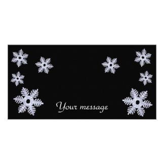 Cartão de Snowflakes~photo Cartoes Com Fotos Personalizados