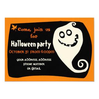 Cartão de sorriso do convite do fantasma