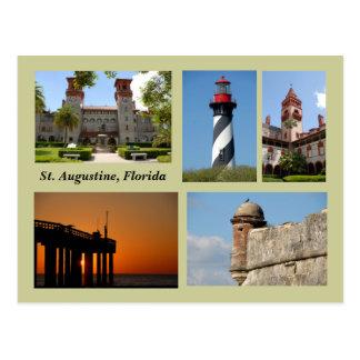 Cartão de St Augustine, Florida Cartão Postal