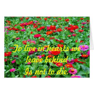 Cartão de Symphaty com flores colurful