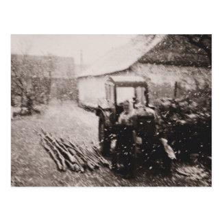 """Cartão de """"tempestade de neve abril """""""
