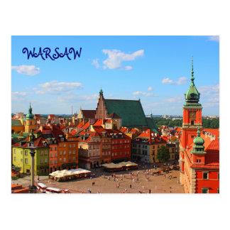Cartão de Varsóvia Cartão Postal