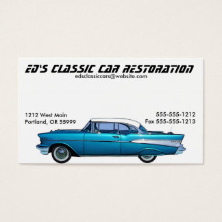Cartão de visita 1957 clássico de Chevrolet