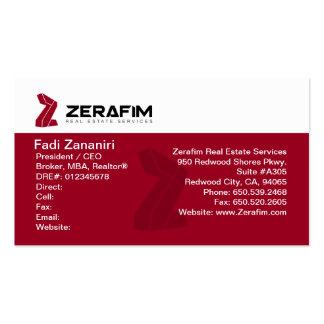 Cartão de visita 2-Sided padrão de Zerafim (w/Phot