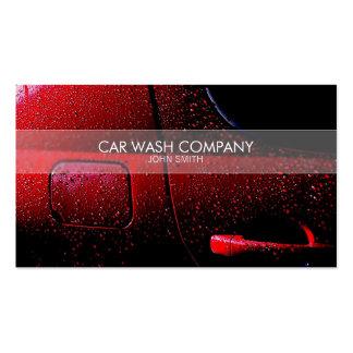 Cartão de visita à moda do lavagem de carros