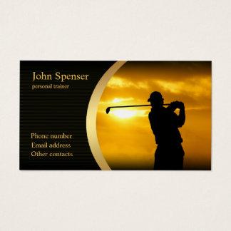 Cartão de visita à moda do treinador do golfe
