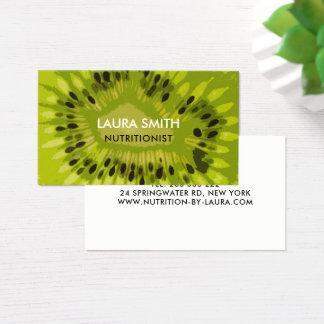 Cartão de visita abstrato da fruta de quivi -
