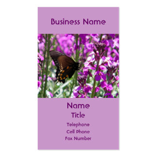 Cartão de visita aceso da borboleta