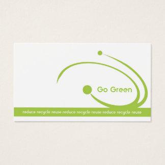 Cartão de visita ambiental branco simples dos