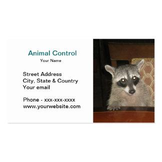 Cartão de visita animal do controle
