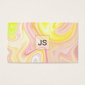 Cartão de visita aquoso abstrato brilhante de