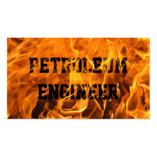 Cartão de visita ardente do engenheiro do petróleo