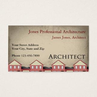 Cartão de visita arquitectónico da arquitetura do