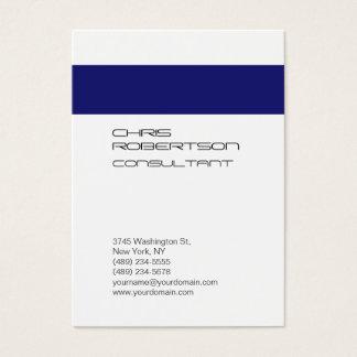 Cartão de visita atrativo azul branco carnudo de