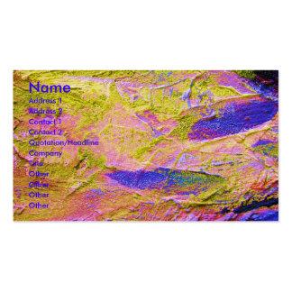 Cartão de visita azul cor-de-rosa amarelo do artis