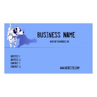 Cartão de visita azul do cão de Dalmation