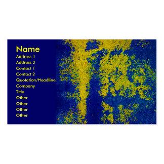 Cartão de visita azul do desenhista do ouro